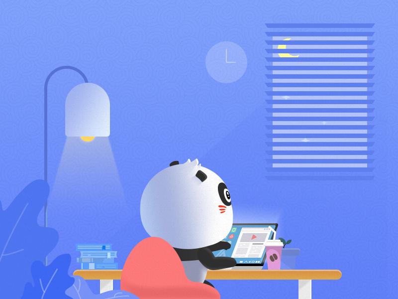 a bear in study