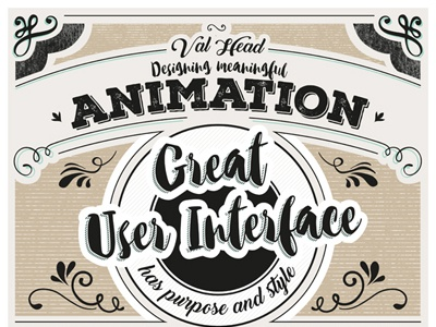 Meaningful Animation by Val Head poster typography conference