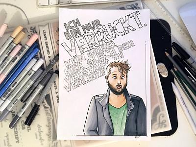 Tobi Katze copic comic art traditional portrait