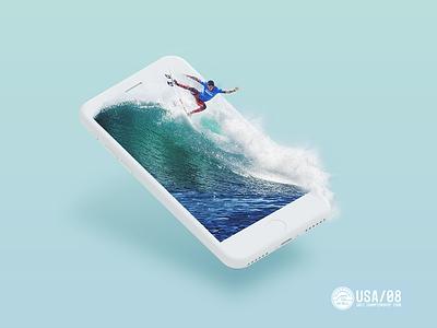 Mobile Surf at Lowers wordlsurfleague wsl digital surfing waves toledo hurley sports sportsdesign iphone mobile surf