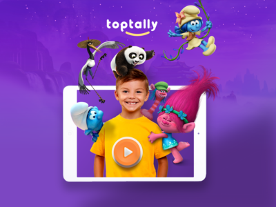 Toptally iPad App  -  On Demand Video Stream for Kids