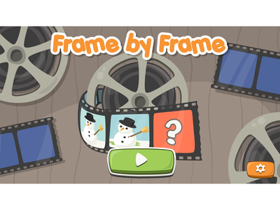 Frame by Frame game main screen framebyframe frame roll snowman buttons button design game ui ui design main screen vector illustration game development cartoon game game design cartoon character cartoon style illustration cartoon illustration cartoonish game art game