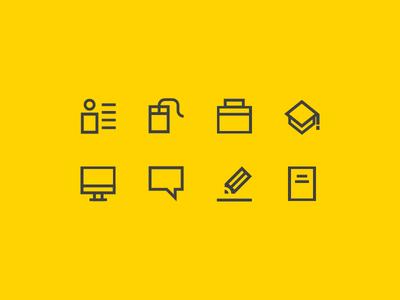 CV/Resume Icon Pack cleen icons simple icons minimalist minimal designer resume graphic desginer cv resume cv icon set icon pack icon icons