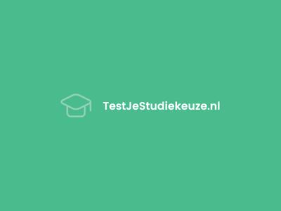 testjestudiekeuze.nl logo design school netherlands dutch branding website logo education graduation cap pastel green pastel logotype logo design logo