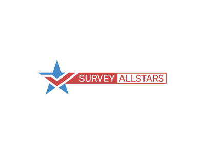 Survey Allstars logo concept survey star vector logo branding website logo star logo logo grid logotype logo design logo