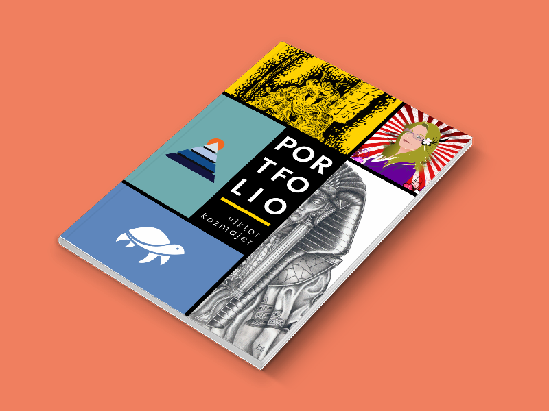 portfolio cover design 2016 2017 by viktor kozmajer dribbble