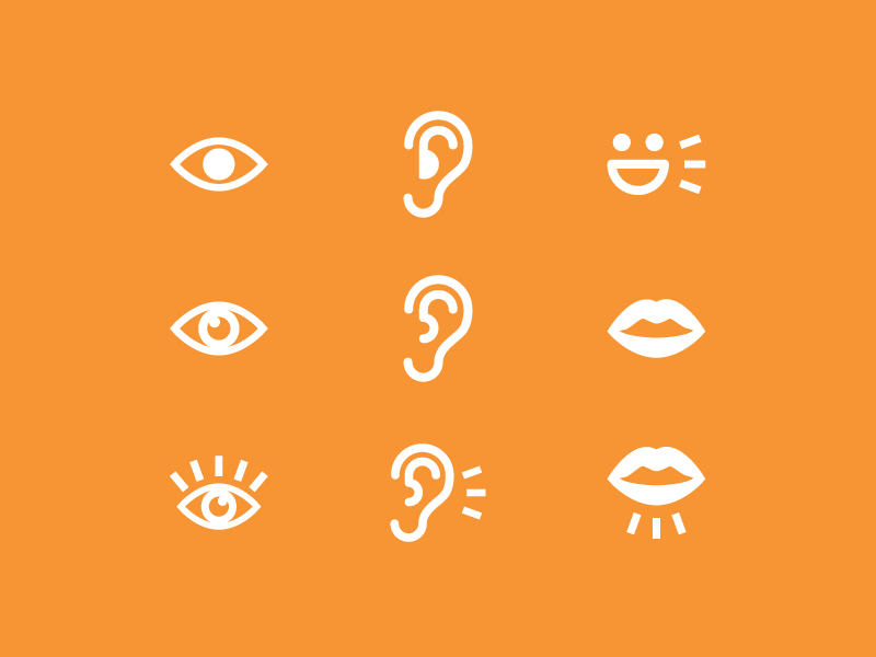 Minimal icon set for Spec Learn games by Viktor Kozmajer on