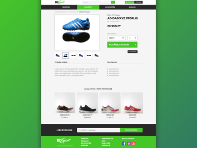 Product page webdesign concept