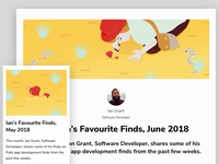Article Illustration - Ian's Favourite finds