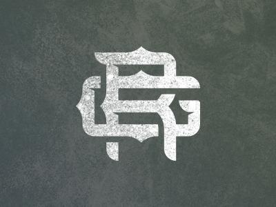 Ricky Gunn Monogram v2 ricky gunn mongram country music logo brand rough singer nashville