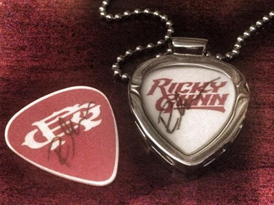 Ricky Gunn Custom Picks ricky gunn mongram country music logo brand rough singer nashville