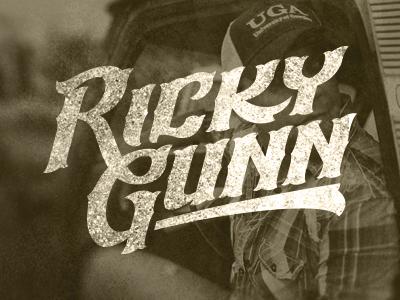 Ricky Gunn Logo ricky gunn mongram country music logo brand rough singer nashville
