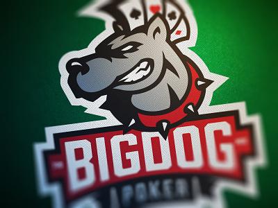 BigDog v2.0 bigdog poker logo cards ace heart spade diamond mohawk prohibition font mattox