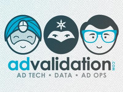 AdValidation.com Bobbles illustration blue grey guru ninja superstar nerd glasses clark kent toons