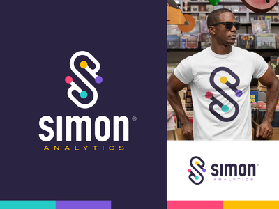 Simon Analytics® Logo math logo analytics simon says letter s logo design letters branding logo
