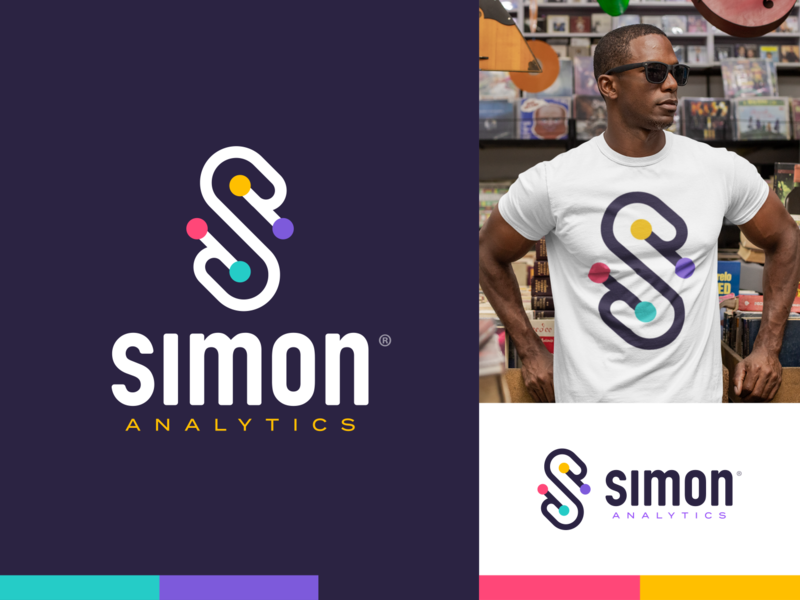 Simon Analytics® Logo math logo analytics simon says letter s logo design letters branding logo