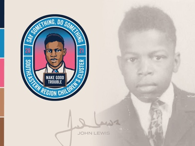 John Lewis Badge john lewis pink blue design illustration logo badge branding