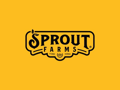 Sprout Farms® Logo sprout gold black farm logo farming branding logo