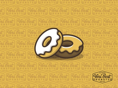 Veri Best Donuts® donuts design illustration white lettering branding