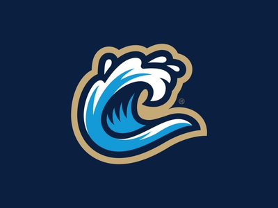 Columbus Rapids® C-Wave georgia futbol soccer pro sprots columbus rapids badge lettering blue illustration design monogram brand branding logo