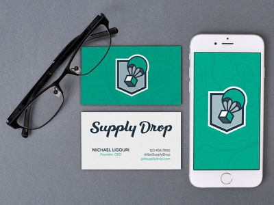 Supply Drop Cards subscription box service lettering logo sd hand lettered script drop supply supply drop