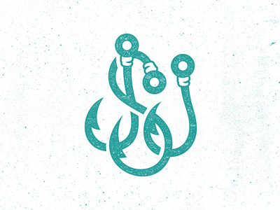 JSJ Hooks Monogram fishing summer sea ocean teal seajuice logo monogram hooks jsj