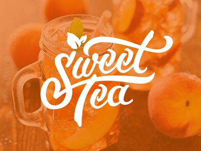 Sweet Tea Y'all! southern old south logo hand lettering cold iced tea sweet tea peach