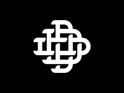 "Triple ""D"" Monogram up and over shadow tshirt landscaping logo ddd monogram"