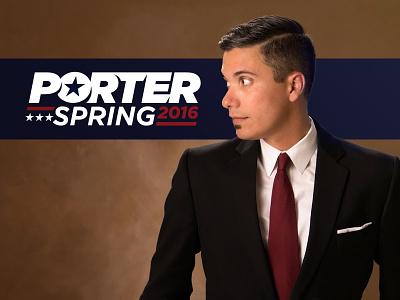 Porter for President! berro satire political fun logo president porter
