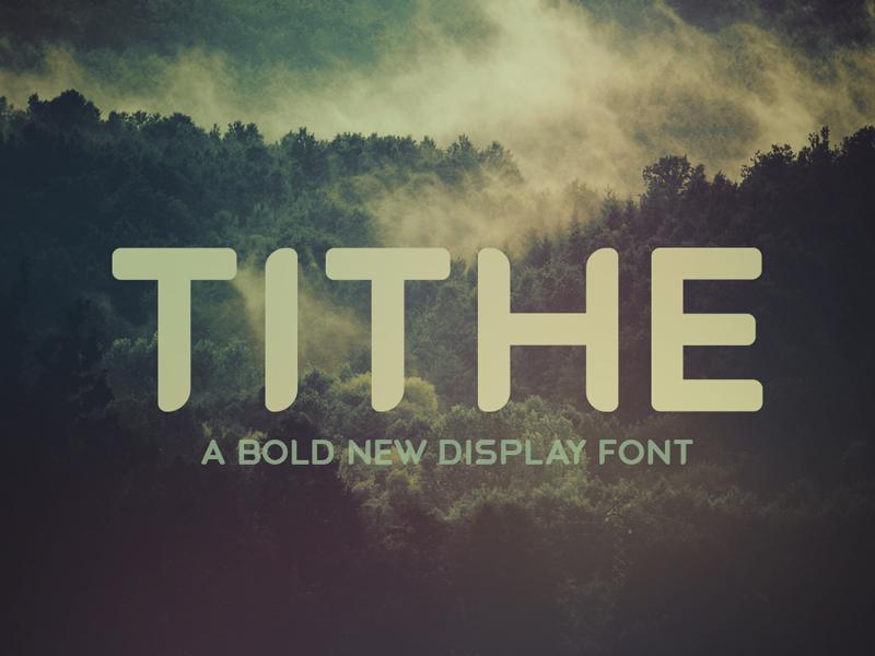 """Tithe Regularly"" handbuilt rounded new font display regularly tithe"