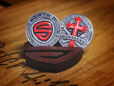 Serve Limited Edition Challenge Coins! pencil fork cross challenge coin edition limited serve coins