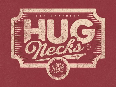 #HugNecks! vintage badge tshirt ossco get southern hugnecks national hug day hugs