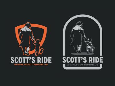 Scott's Ride foundation fundraising walking bear children charity motorcycle club bikers ride scott