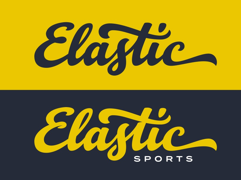 Elastic Brand Final sketch pencil hand lettering lettering design brand logo sports elastic