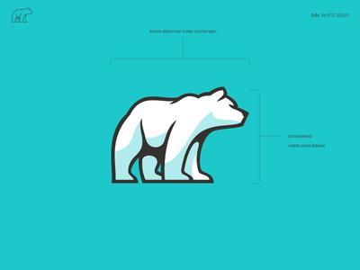 Nokose™ Polar Bear clothing logo nokose animal teal white bear icon logo brand branding