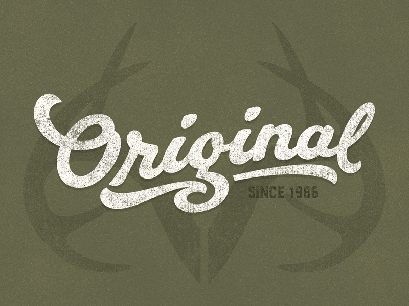 Realtree® Original - Since 1986 olive green drab green antlers 1986 camo realtree patch brand badge lettering