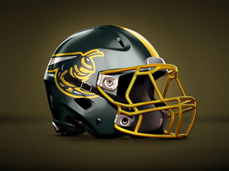Waverly Hall Jackets Helmet helmet sports brand yellow jacket bee wasp bees jackets brand logo