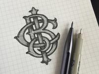 Monogram Sketch study for BCI