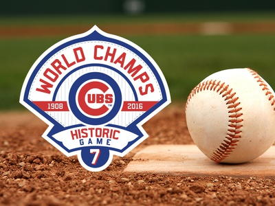 Congrats Cubs!  mlb red blue pinstripe baseball patch brand cubs chicago