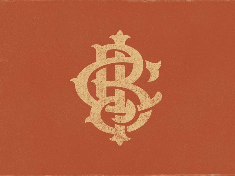 BCI Monogram 1875 terracotta b45233 bnb bed and breakfast letters bci logo brand monogram