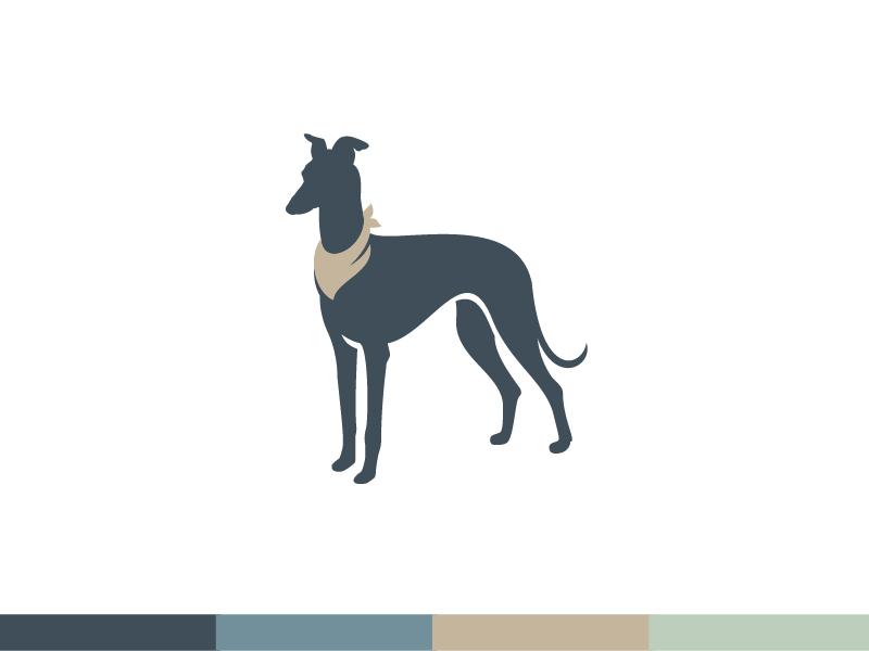 Barking Dog Bandanas™ tan green dog clothes gold blue bandanas italian greyhound dog