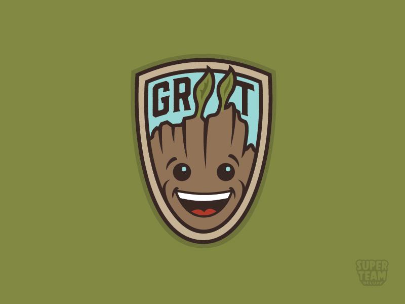 Groot! fan art pin leaves groot movie patch