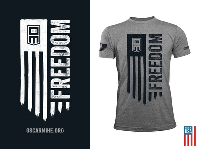 OscarMike.org Tshirt tshirt charity veterans oscarmike freedom flag