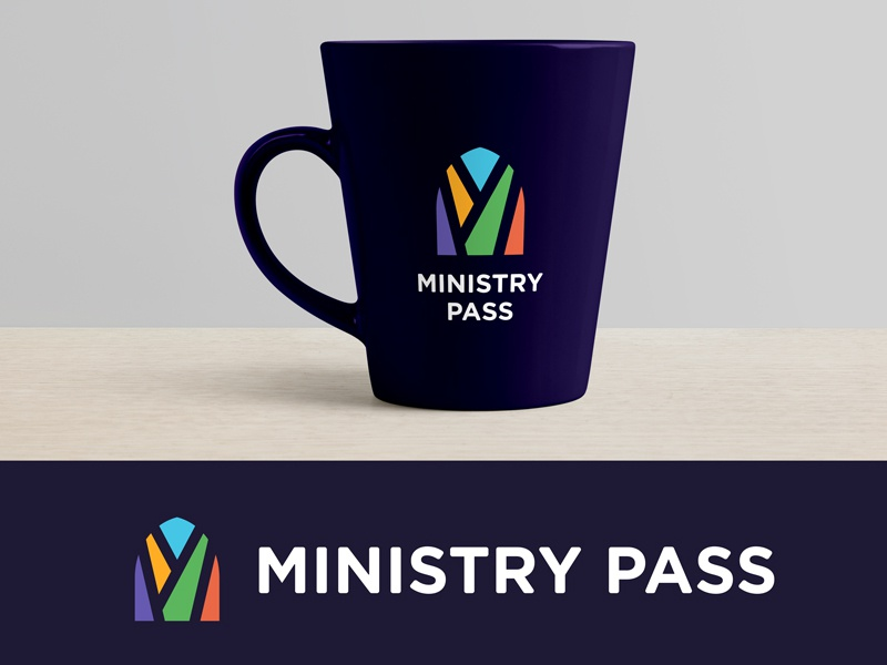 Ministry Pass Logo window stained glass logo branding church pass ministry