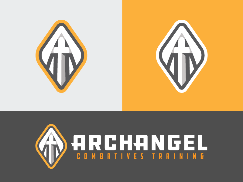ArchAngel Combatives® Training a sword archangel combative defense military tactical tactics self defense angel logo branding