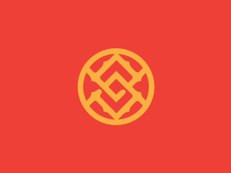 Cutting Room Floor circular orange red yellow overlap symbol branding logo mark