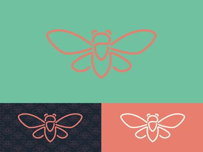 Jarfly Patio & Kitchen® food logo southern hospitality jarfly logo bug logo restaurant branding branding brand