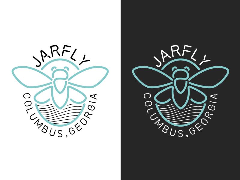 Jarfly® badge bug cicada neon sign neon brand branding logo jarfly