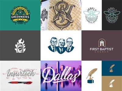 Top 9 of 2018 illustration topshots branding logos lettering best shots 2018 top 9
