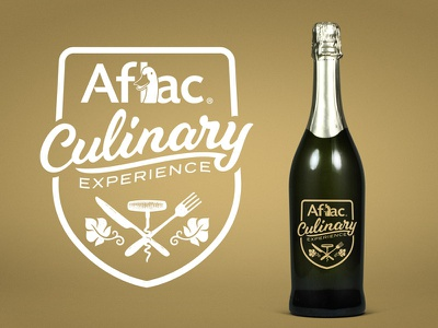 Aflac® Culinary Experience Badge hand-lettering toast vip dinner culinary badge label food wine duck aflac